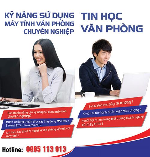 Dạy tin học văn phòng tại Hải Phòng