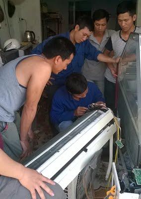 Học sửa điện lạnh điều hòa thực tế